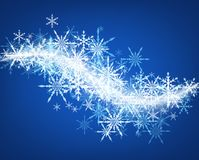 Blue winter background with snowflakes. Blue winter background with whirl of snowflakes. Vector illustration Royalty Free Stock Photography