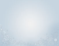Blue Winter Background with snowflakes. Bright Blue Winter Background with snowflakes Royalty Free Stock Images