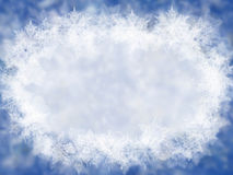 Blue winter background with snowflakes Royalty Free Stock Images