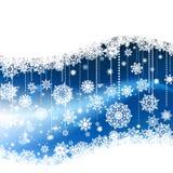 Blue winter background & snowflakes. EPS 8 Stock Photos