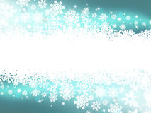 Blue winter background & snowflakes. EPS 8 Stock Photography
