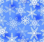 Blue winter background with snowflakes Stock Image