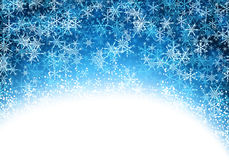 Blue winter background with snowflakes. Blue winter luminous background with snowflakes. Vector illustration Royalty Free Stock Images