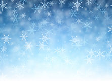 Blue winter background with snowflakes. Vector illustration Royalty Free Stock Photos