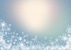 Winter Background with snowflakes for your own creations. Blue Winter Background with snowflakes for your own creations royalty free illustration