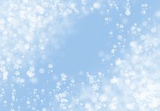 Winter Background with snowflakes for your own creations. Blue Winter Background with snowflakes for your own creations stock illustration