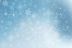 Blue Winter Background with snowflakes. For your own creations Royalty Free Stock Photos