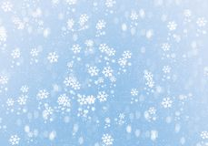 Blue Winter Background with snowflakes. For your own creations royalty free stock image