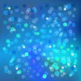 Blue winter background, vector illustration Royalty Free Stock Photography