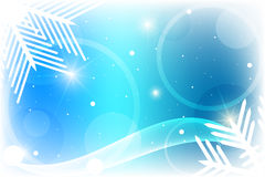 Blue winter background. With white snowflakes Royalty Free Stock Photo
