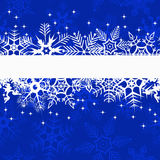 Blue winter banner with snowflakes. Vector illustration Royalty Free Stock Photography