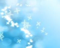 Blue winter bokeh background Stock Photos