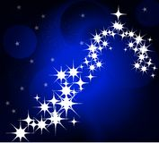 Blue Winter and Christmas background Royalty Free Stock Photography