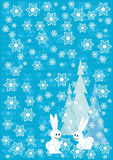 Blue winter Christmas background Stock Photos