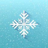 Blue winter christmas background, Snowflakes on blue background,. Xmas, New year, Vector illustration Stock Photo