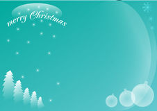 Blue winter Christmas card stock photo