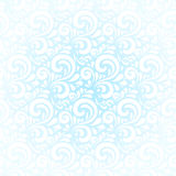 Blue winter curls vector abstract background Royalty Free Stock Image
