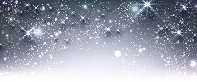 Blue winter festive luminous banner. Blue winter festive luminous banner with snow. Vector illustration Royalty Free Stock Photography