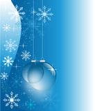 Blue winter with glass balls Royalty Free Stock Images