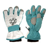 Blue winter gloves Stock Photo