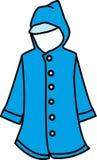 Blue winter jacket Stock Photography