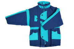Blue winter jacket Stock Photos