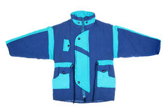 Blue winter jacket Stock Image