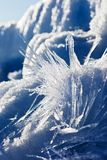 Blue winter landscape. With ice stock photo