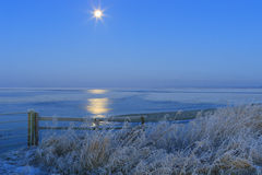 Blue winter landscape in nature Royalty Free Stock Photos