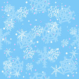 Blue winter pattern Royalty Free Stock Photos