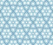 Blue winter pattern hexagonal snowflakes. Abstract background Blue winter pattern hexagonal snowflakes vector illustration