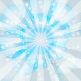 Blue winter rays burst Royalty Free Stock Photos