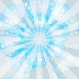 Blue winter rays burst Royalty Free Stock Photos