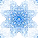 Blue winter round lace background Royalty Free Stock Photo