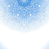 Blue winter round lace background Royalty Free Stock Photos