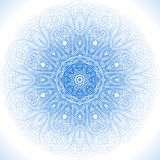 Blue winter round lace background Stock Images