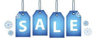Blue winter sale labels stock illustration