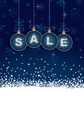 Blue winter sale tags Royalty Free Stock Photo