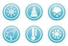 Blue winter signs Royalty Free Stock Photography