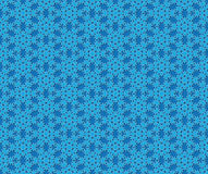 Blue winter snow flake pattern Royalty Free Stock Photography