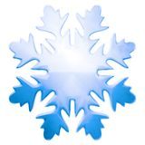Blue winter snowflake. Blue glass winter snowflake as xmas or winter object. Isolated stock illustration