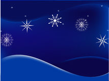 Blue winter snowflake background Stock Photos