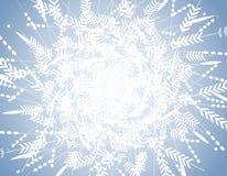 Blue Winter Snowflake Pattern Background stock image