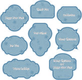 Blue winter stickers Royalty Free Stock Images