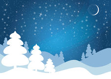 Blue winter vector background. Stock Photos