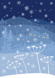 Blue winter Stock Images