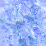 Blue winter watercolor texture. Hand painted decorative surface. Abstract background Royalty Free Stock Image