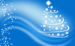 Blue winter xmas background Stock Photography