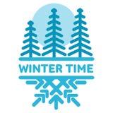Blue wintertime sticker Royalty Free Stock Photos