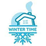 Blue wintertime sticker Stock Photo